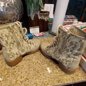 Adorable lace booties